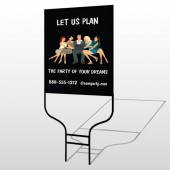 Party Planning 519 Round Rod Sign