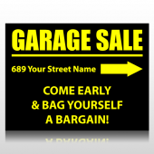 Black & Yellow Garage Sale Sign Panel