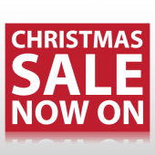 Christmas Sale Now On Sign Panel