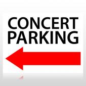 Concert Parking Directional Sign Panel