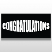Bulging Congratulation Graduation Banner