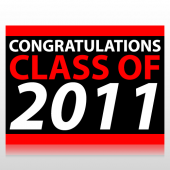 Congratulations Class of 2011 Sign Panel