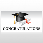 Congratulations Diploma Graduation Banner