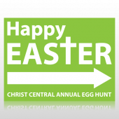 Easter Egg Hunt Sign With Arrow Sign Panel