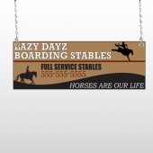 Boarding Stable 304 Window Sign