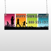 Happy Town 181 Window Sign
