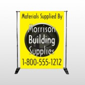 Small Black House 219 Pocket Banner Stand