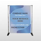 Blue Dots 145 Pocket Banner Stand