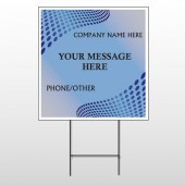 Blue Dots 145 Wire Frame Sign