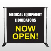 Medical Liquidators 98 Pocket Banner Stand