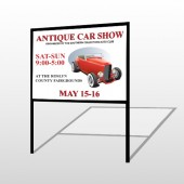 Car Show 123 H Frame Sign