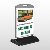 Muscle Car 124 Wind Frame Sign