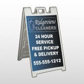 Dry Cleaners 24  A Frame Sign