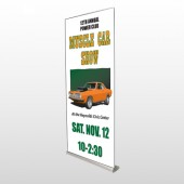 Muscle Car 124 Retractable Banner Stand