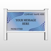 "Blue Dots 145 48""H x 96""W Site Sign"