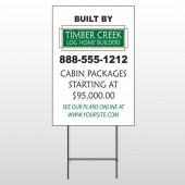 Log Builder 40 Wire Frame Sign
