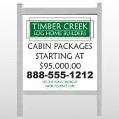 "Log Builder 40 48""H x 48""W Site Sign"