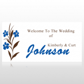 Flowers Welcome To The Wedding Banner
