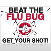 Flu Shot 10 Custom Sign