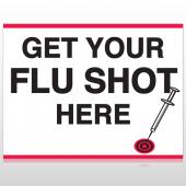 Flu Shot 16 Custom Sign