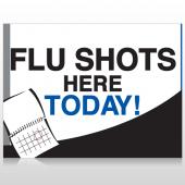 Flu Shot 18 Custom Sign