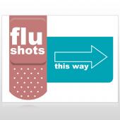 Flu Shot 20 Custom Sign