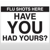 Flu Shot 3 Custom Sign