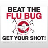 Flu Shot 9 Custom Sign