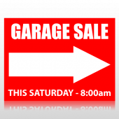 Garage Sale Sign Right Arrow Sign Panel