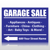Garage Sale Sign With Products Sign Panel