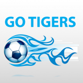 Go Tigers Soccer Sign Panel