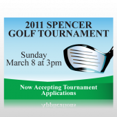 Golf Tournament Sign Panel