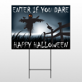 Halloween 13 Wire Frame Sign