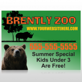 Bear Zoo 302 Custom Sign