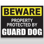 Beware Guard Dog 93 Custom Sign