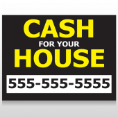 Cash For House 107 Custom Sign