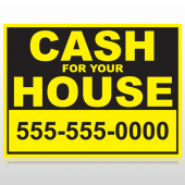Cash For House 121 Custom Sign