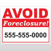 Foreclosure 119 Custom Sign