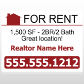 For Rent 106 Custom Sign