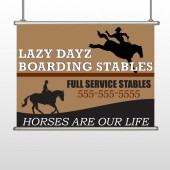 Boarding Stables 304 Hanging Banner