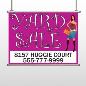 Pink Girl Sale 552 Hanging Banner