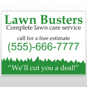 Lawn Busters 91 Custom Sign