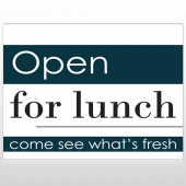 Open For Lunch 83 Custom Sign