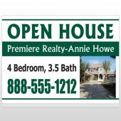 Open House 32 Custom Sign