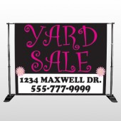 Pink Yard Sale 550  Pocket Banner Stand