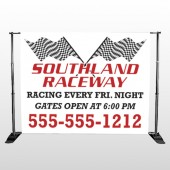 Racetrack 31 Pocket Banner Stand