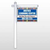 "Crayons 184 18""H x 24""W Swing Arm Sign"
