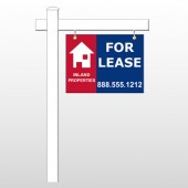 "For Lease 2 18""H x 24""W Swing Arm Sign"