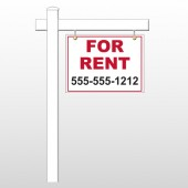 "For Rent 44 18""H x 24""W Swing Arm Sign"
