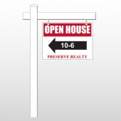 "Open House 18 18""H x 24""W Swing Arm Sign"